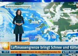 TV Moderatorin Susanne Schöne für N24 Nachrichtensender Wetter in Berlin