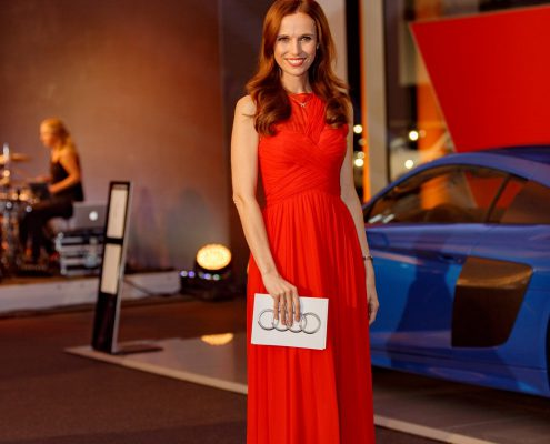 Galamoderatorin Moderatorin Susanne Schöne für Audi