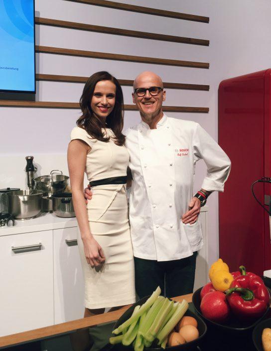 Susanne Schöne aus München mit TV Koch Ralf Zacherl