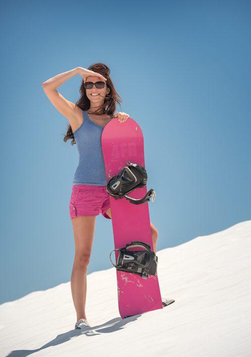 moderatorin sandboarding
