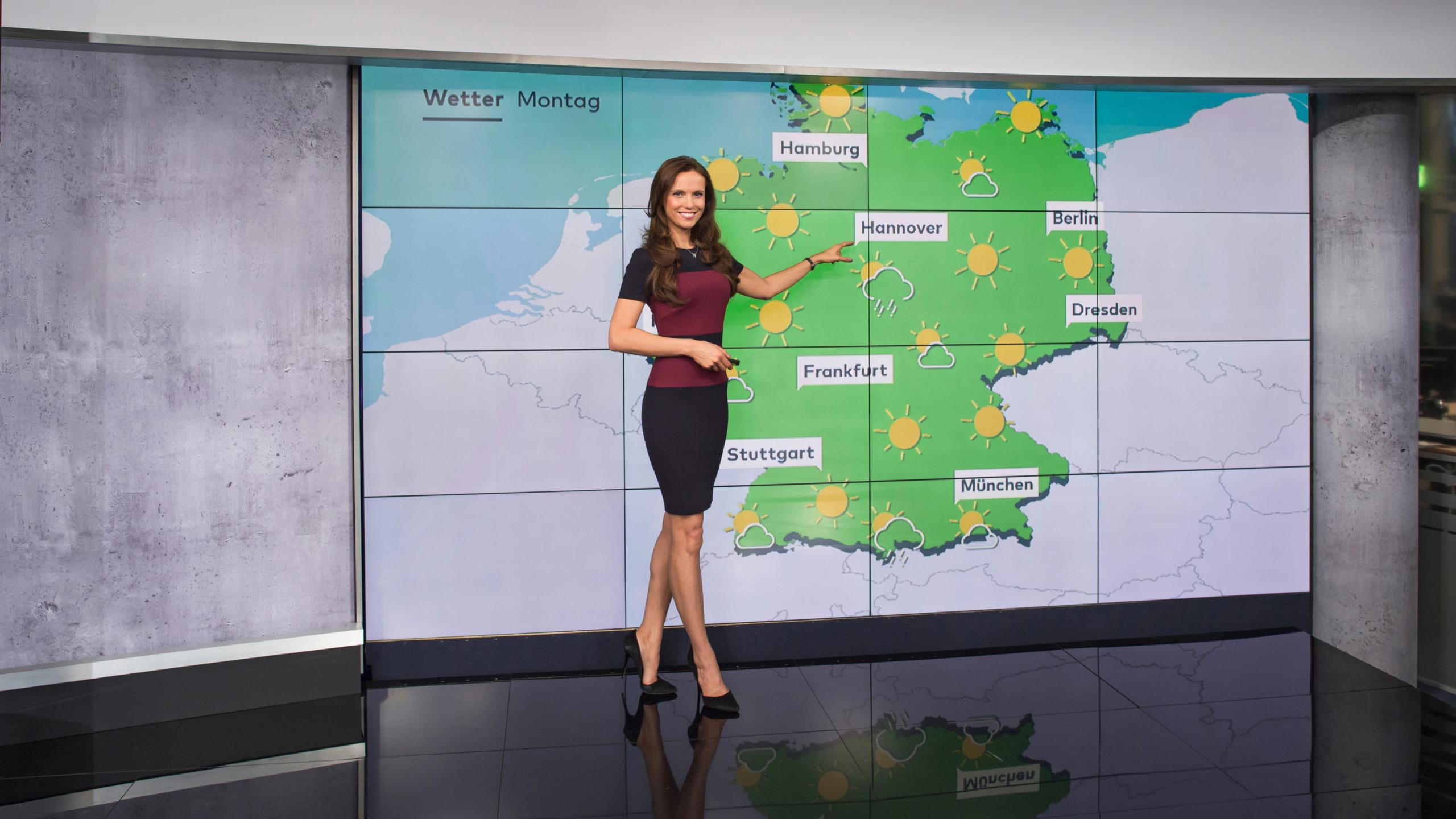 N24 Wettermoderatorin Susanne Schöne Wetterkarte » Susanne ...
