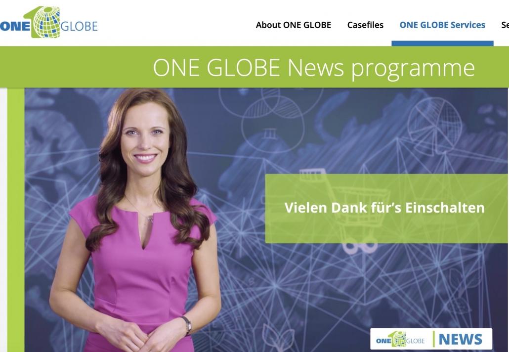 Moderatorin Susanne Schöne aus Dresden, München, Berlin moderiert das neue News-Format One.Globe in Karlsruhe